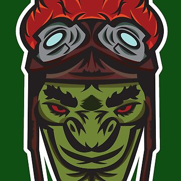 Green Goblin Rider Vector Art by giftmones
