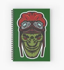 Green Goblin Rider Vector Art Spiral Notebook