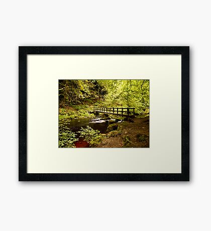Hebden Water Crossing Framed Print
