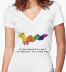 Camiseta entallada de cuello en V Inchworm