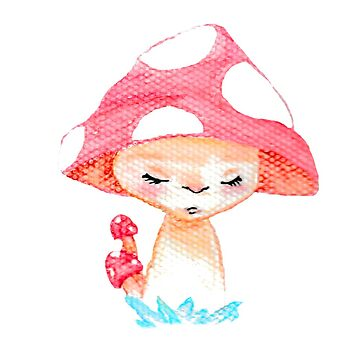mushroom pattern made with watercolors by craftmania
