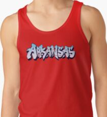 Arkansas License Plate Graffiti (By Graffiti Muscle) Tank Top