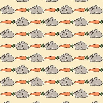 rabbit and carrot pattern by Lips1993