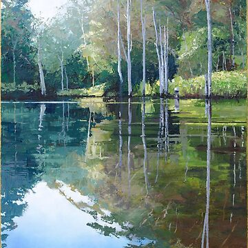 "Original Painting: ""Moments of Reflection"" - Maroochy Bushland Botanic Gardens, Tanawha, QLD, Australia by MartinLome"