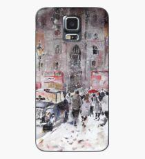 Funda/vinilo para Samsung Galaxy Invierno nieve en Londres - escena de la calle de la ciudad