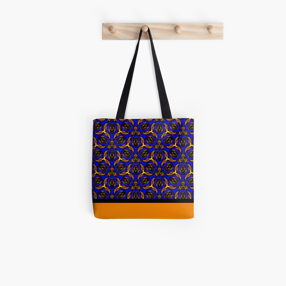 Blue yellow African print  Tote Bag