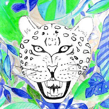 Watercolor jungle tiger  by craftmania