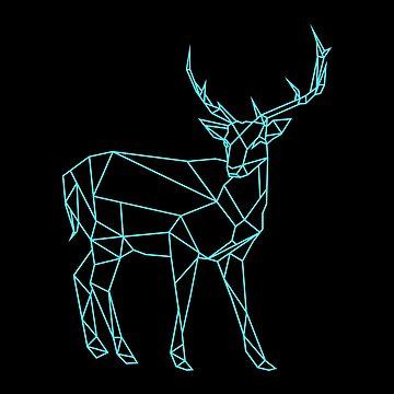 Hand drawn deer design by OKDave