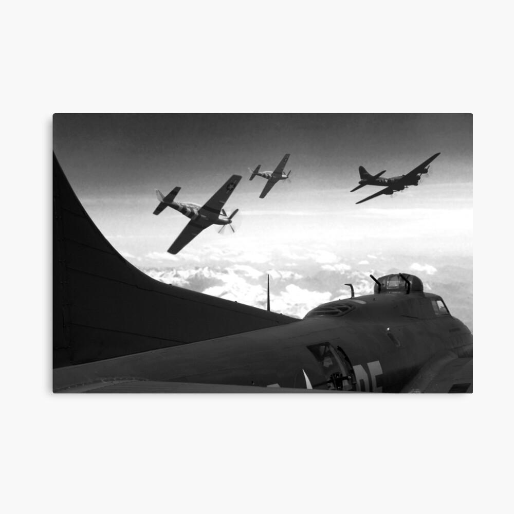 The Final Mission (Monochrome Version) Canvas Print