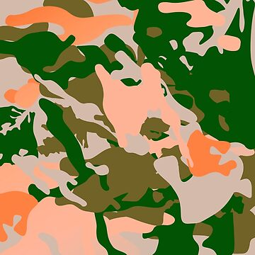 Pink and Green Camouflage Pattern by Art2Me