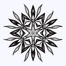 Kaleidoscopic Flower In Black And White by Boriana Giormova