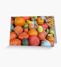 Pumpkins and Squashes Greeting Card
