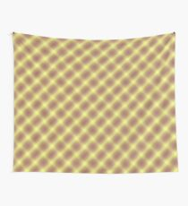 Yellow and Lavender Plaid Wall Tapestry