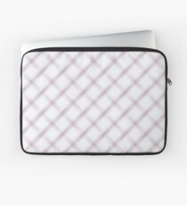 White and Lavender Plaid Laptop Sleeve