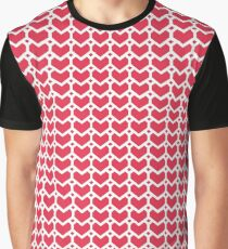 Geometric heart pattern Graphic T-Shirt