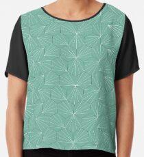 Palm green pattern Chiffon Top