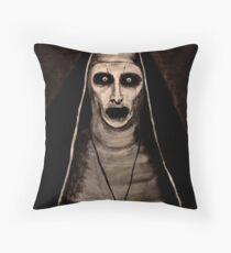 Demonic Sister Valak Throw Pillow