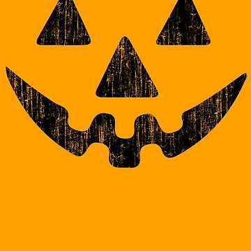 Pumpkin Face Halloween by ironydesigns