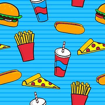 Pattern of Fast Food by pamela4578
