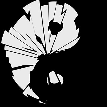 Yin Yang Shatterd Symbol by Rebellion-10
