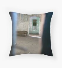 through the crack in the door..... Melbourne Throw Pillow