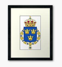 Lesser Coat of Arms of Sweden Framed Print