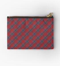 Red and Blue Plaid Studio Pouch