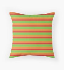 Green, Gold and Red Stripes Floor Pillow