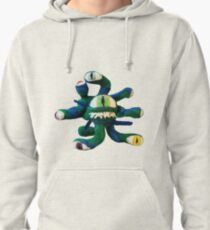 Blue/Green Beholder (Needle Felt Art) Pullover Hoodie
