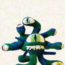 Blue/Green Beholder (Needle Felt Art) by TheJoanofArt