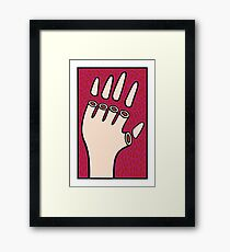 The hand of fate Framed Print
