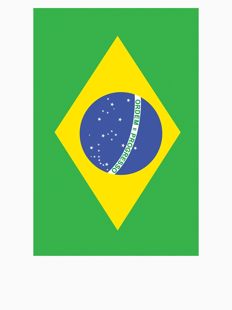 BRAZIL, BRAZILIAN FLAG, Flag of Brazil, Portrait, Football, Sport, Olympics, Pure and Simple by TOMSREDBUBBLE