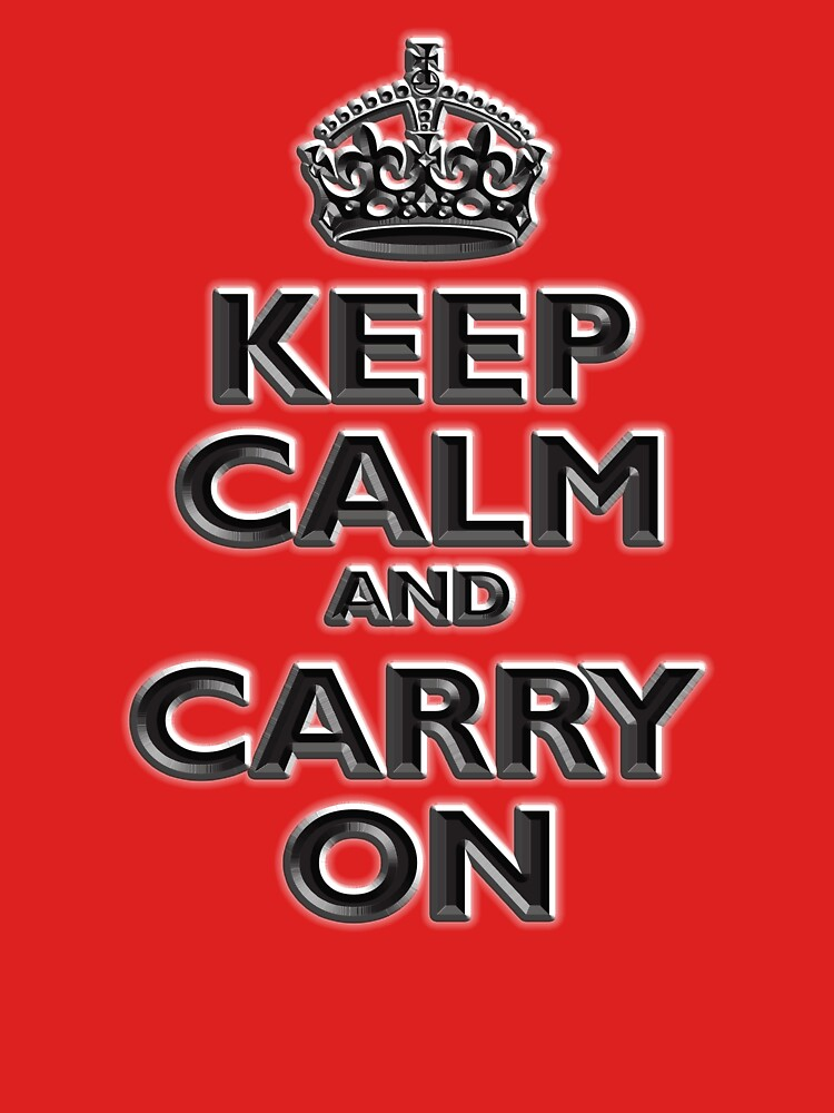 KEEP CALM, Keep Calm & Carry On, British, UK, Britain, Blighty, Chisel on Red by TOMSREDBUBBLE