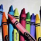 Color Me Bold #2 - colorful children's crayons print from original oil painting by LindaAppleArt