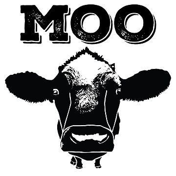 Cow Funny Design - Moo by kudostees