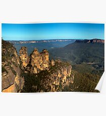 The Three Sisters Echo Point Katoomba - HDR Poster