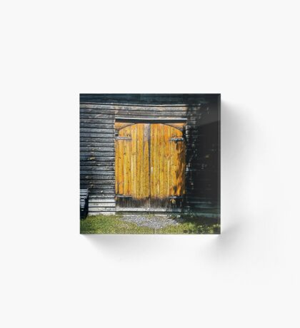 Barn Doors Acrylic Block
