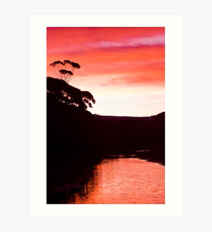 Sunset over the Thurra - Croajingolong National Park  Art Print