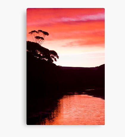 Sunset over the Thurra - Croajingolong National Park  Canvas Print