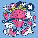 Strawberry Dude The Fruit Guy by scooterbaby