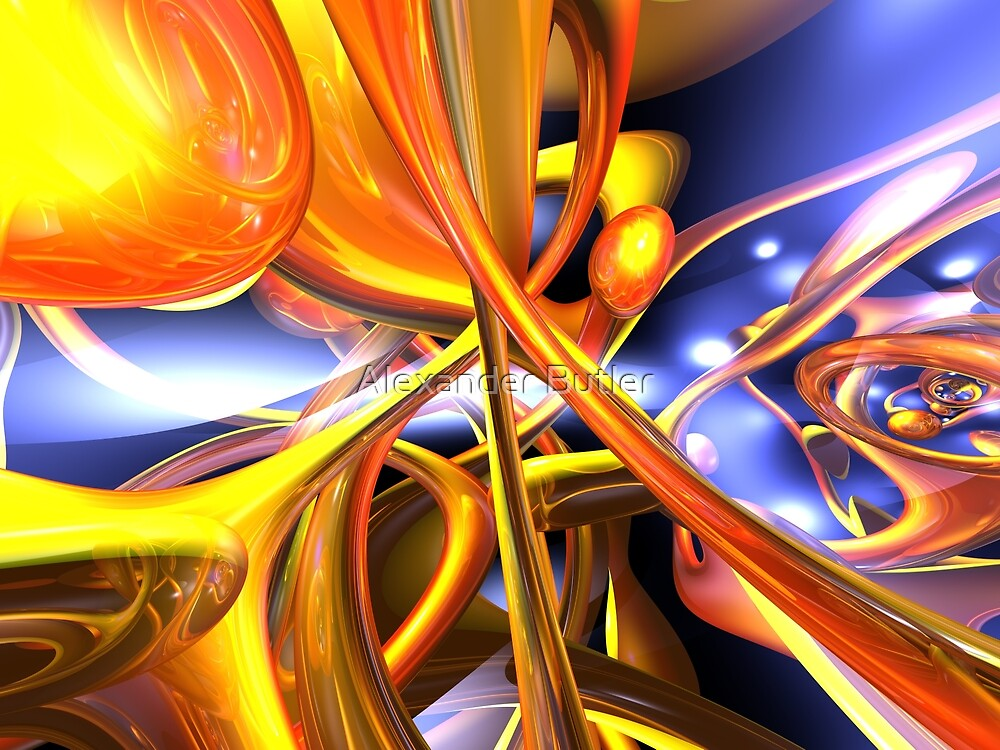 Vibrant Love Abstract by Alexander Butler