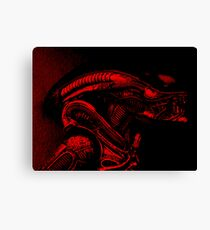 Xenomorph (Red) Canvas Print