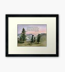 Heavenly Help -  Psalm 121:1-2 Framed Print