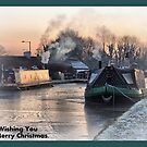Frozen Lancaster Canal at Bilsborrow. by Lilian Marshall