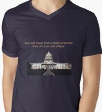 You will never find a more wretched hive of scum and villany. Congress Men's V-Neck T-Shirt