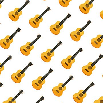 Acoustic Guitar Pattern Gift Idea by throwbackgamer