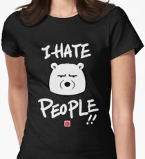 I Hate People! Women's Fitted T-Shirt