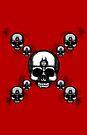 Errorface Skull Cross by errorface