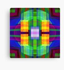 Be Happy, abstract fractal design Canvas Print