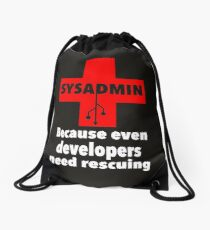 SYSADMIN: Because even developers need rescuing Drawstring Bag